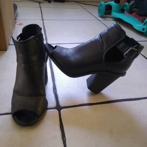Gently used open toe boots Final Price